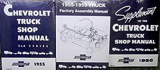 1955 1956 CHEVY TRUCK PICKUP REPAIR SHOP And SERVICE MANUAL Plus FACTORY ASSEMBLY MANUAL SET ½-ton ¾-ton 1-ton 1 ½-ton 2-ton 2 1/2-tonCameo Low Cab Forward Control Platform Panel Suburban