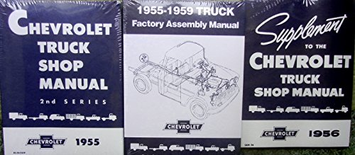 1955 1956 CHEVY TRUCK PICKUP REPAIR SHOP And SERVICE MANUAL Plus FACTORY ASSEMBLY MANUAL SET ½-ton ¾-ton 1-ton 1 ½-ton 2-ton 2 1/2-tonCameo Low Cab Forward Control Platform Panel Suburban