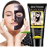 Puntos Negros Mascarilla, Mascarilla Exfoliante Facial, Black Mask-Mascara Negra De Purificante Espinillas y Piel Muerta, Hidratar Piel, Eliminar Puntos Negros