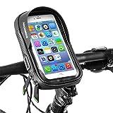 ROCKBROS Borsa Cellulare Manubrio Supporto Cellulare per Bici MTB Porta Smartphone Portacellulare Impermeabile Touchscreen sotto 5.8'/6.0'/6.2' Pollici