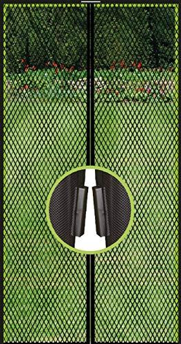 Insektenschutz für Balkon-Tür 100x210cm, Mosiktoschutz mit Magneten, Fliegennetz Klettband Türvorhang Moskitoschutz