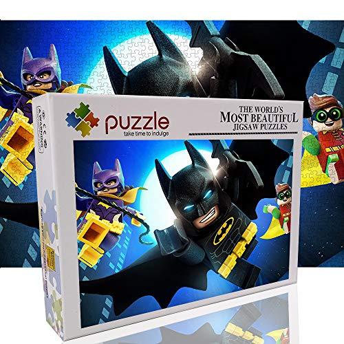 Batman 1000 Piezas Rompecabezas para Adultos niños Lego Juguete Rompecabezas decoración del hogar 1000 Piezas Rompecabezas 70x50cm