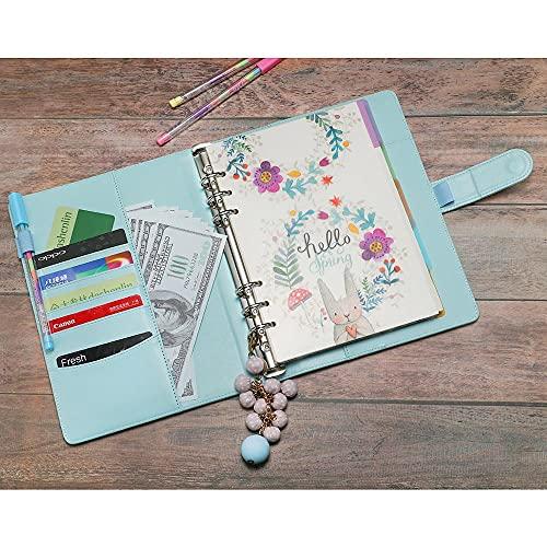 MALAT Cuaderno De Cuero De La PU Espiral De Hojas Sueltas Recargable Diario De Viaje Planificador Agenda Bloc De Notas Carpeta A5 A6 Estudiante Encantador
