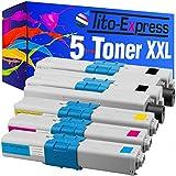 Tito-Express Platinum Serie 5 Cartuchos de tóner XXL compatibles con Oki C310 C510 C310DN C330DN C331DN C510DN C511DN C530DN C531DN MC351DN MC352DN MC361DN 44469803 44469706 44469705 44469704