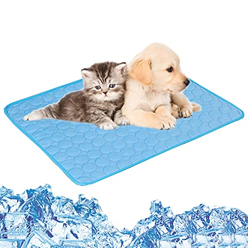 Tappetino rinfrescante per animali domestici tappetino rinfrescante per cani e gatti, materiale in tessuto pieghevole tappetino rinfrescante per animali domestici cuccioli di gatto,3 dimensioni M