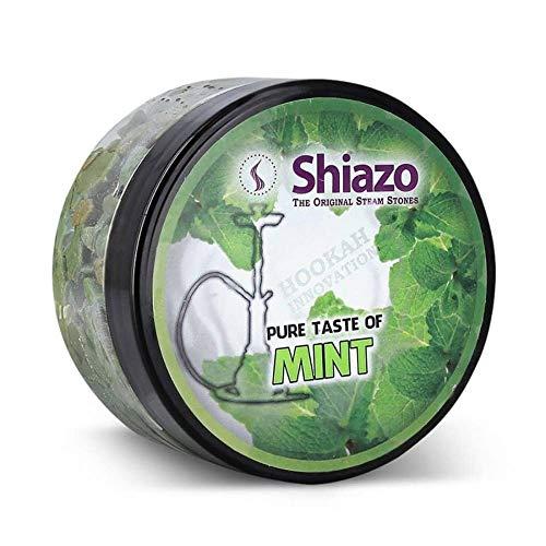 Shiazo 100gr, pietre a vapore Steam Stones per Shisha E Shisha con 40Aromi e Profumi a scelta Verde menta