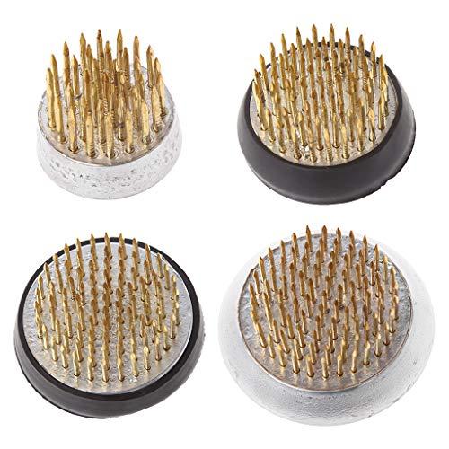Girasool Kenzan circulaire pour ikebana avec joint en caoutchouc Outil pour arrangement floral, 1#:2.3x2cm/0.9x0.78\