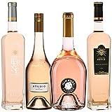 Best of Provence - Lot de 4 bouteilles - Miraval : Studio/Jolie-Pitt - Berne : Château/Terre - Côtes de Provence Rosé 2019 (4 * 75cl)