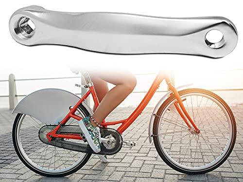 STS Pedivella Braccio Bicicletta in Alluminio forgiato Colore Argento Cromo 170mm Grigio