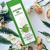 Gel de Aloe Vera 100% Puro,250 ML Aloe Vera Crema Natural,Gel Hidratante para Cara,Cabello y Cuerpo,Ideal para el Acné,Pieles Secas y Quemadas Solares,Calmante,Nutritiva y Antisensible  con Bomba
