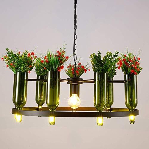 Beautiful lamps/creatieve wijnfles E27 kroonluchter in landelijke stijl licht antquariaat van industriële hanger smeedijzer decoratieve verlichting keuken restaurant hotel L