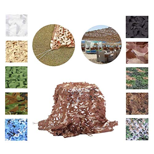Outdoor Hunting Camo Net Sunshade Cloth Camping Woodlands Forest Camouflage Military Car Shade Cloths Cover 4 * 8m/13 * 26ft (Color : -, Size : 2x4m/6x13ft)