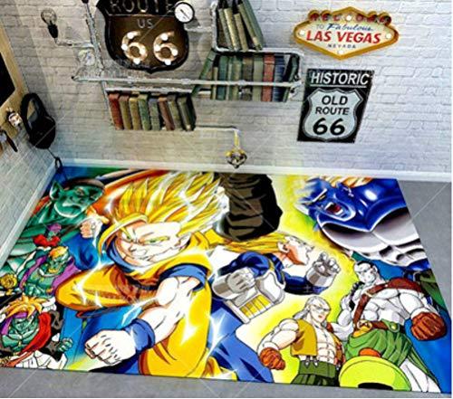 chengcheng Alfombra de Dragon Ball, alfombras cuadradas de Anime, cojín para Silla giratoria de Estudio para Dormitorio, tapete de Creatividad para niños 80x150cm