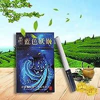 グリーンティーハーブタバコ牡丹 ジャスミン ウーロン茶 プエル茶 ローズ茶 緑茶 バラ茶 中国のハーブタバコは禁煙とニコチンフリー、 ニコチン0% 茶タバコ (10パック,?色妖?)