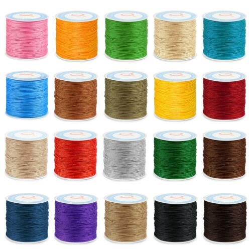 Affordable 87Yard 0.6mm Waxed Sewing Thread String Round Cord for Leather Stitching Crafts #BRLN4 (W...