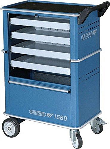 Gereedschapswagen blauw 4 schill.zilver 625x400x930mm GEDORE