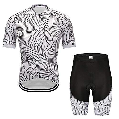 Jerseys - Traje de equitación de manga corta para exteriores, de secado rápido, para montar en bicicleta, color blanco, talla: XXXL)