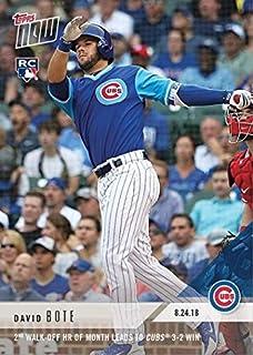 4d901b6d800 2018 Topps Now Baseball  634 David Bote Rookie Card - 2nd Walk-Off HR
