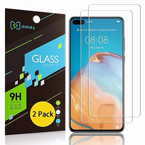 Didisky Pellicola Protettiva in Vetro Temperato per Huawei P40, [2 Pezzi] Protezione Schermo [Tocco Morbido ] Facile da Pulire, Facile da installare, Trasparente