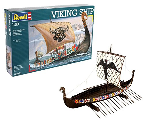 Revell Maqueta Viking Ship, Kit Modello, Escala 1:50 (5403