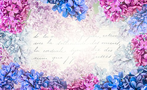 Delester Design 1792-P8 Décoration Murale Motif Lettre dans les Fleurs de Lilas 254 x 368 cm