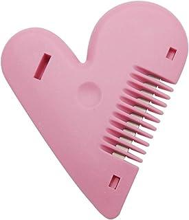 Lurrose Tijeras de corte de pelo en forma de corazón de peine adelgazante de doble cara