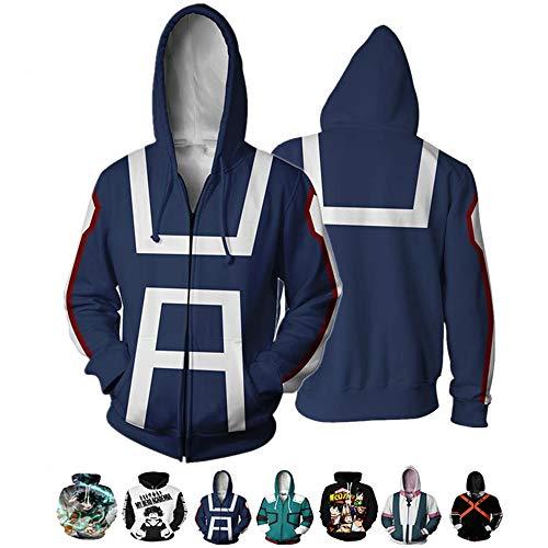 Sudadera con capucha 3D Boku No Hero Academia My Hero Academia Izuku Midoriya con capucha para disfraz de cosplay para adultos, unisex -  -  XXX-Large