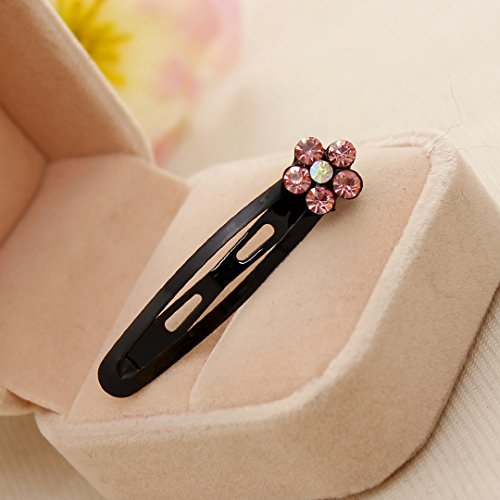 WEIAIXX Ornements De Cheveux Diamond Liséré Clip Fleur De Prunier Petit Papillon Noeud Bb Pince Disque Noir Dossier 4247_1 Prune Rose Fleur