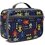 Kids Lunch box Insulated Soft Bag Mini Cooler Back to School Thermal Meal Tote Kit for Girls, Boys,Women,Men by FlowFly,Robot