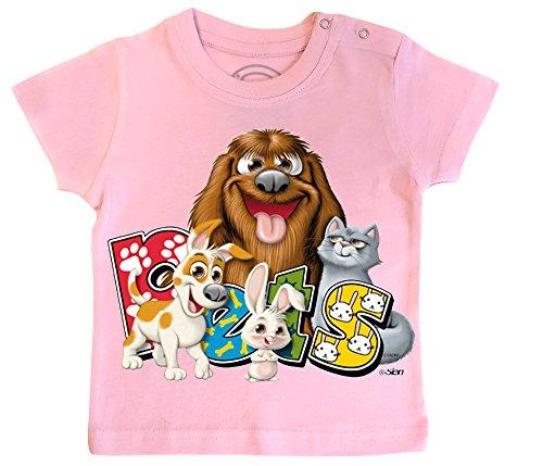 PIXEL EVOLUTION T-Shirt Bébé Pets Taille 18 Mois - Rose