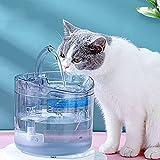 JJHOME Bebedero para Mascotas de 2L para Gatos, Perros con Bomba súper silenciosa, Filtro de carbón Activado, Bebida higiénica Saludable para Mascotas