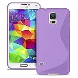 Estuche Ultra Delgado para Samsung Galaxy S5 Mini El | En Púrpura | Funda De