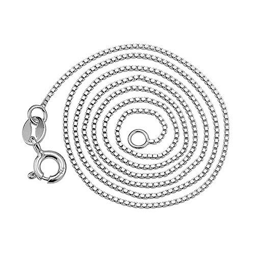 Aituo 1 mm 40,64 cm 40 cm/45,72 cm 45 cm 925 plata de ley eslabones collar de cadena para las mujeres joyería de los hombres de techo/caja / - desasosiego // / de la serpiente de agua de la semilla de trigo del encanto del estilo de la cadena 18''45cm Box