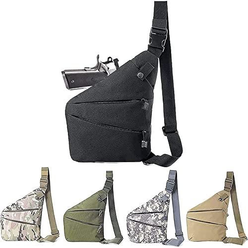 Concealed Carry Gun Bag Soft Pistol Case Tactical Backpack Shoulder Holster Chest Pack Single Bag Portable Backpack