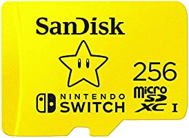 SanDisk microSDXC UHS-I card for Nintendo 256GB - Nintendo licensed Product, Yellow