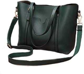 Bags, shoulder bags, messenger bags, handbags, ladies leather bags, all-match women bags, large bags, tote bags, long wallets, multi-color optional (Color : Green, Size : One size)