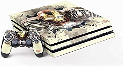 Skinit Decal Gaming Skin for PS4 Pro Console and Controller Bundle - Officially Licensed Marvel/Disney Ironman Flying Design