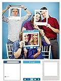 Creative Converting (324566) 3-Piece Photo Prop Frames, Social Media Snaps