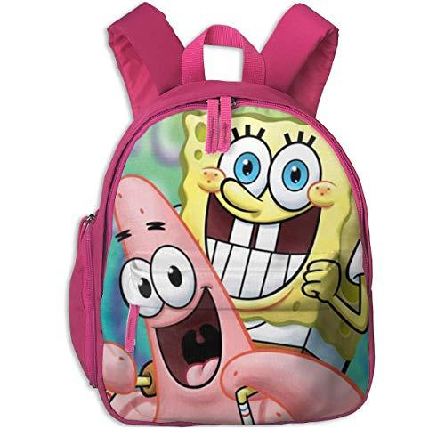 Hdadwy Patrick Carrying Bob Esponja Mochila Escolar, Cool Boy Girl Universal Canvas Bag Travel Bag