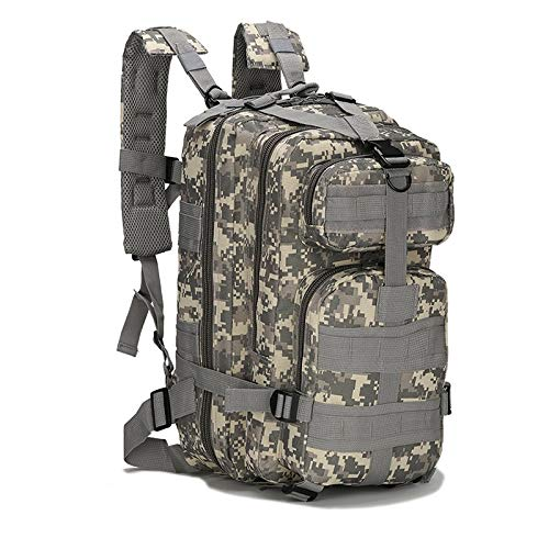 盛世汇众 30L backpack 3P outdoor Oxford cloth hiking sports travel backpack camping hiking bag (color : ACU, Size : 30 40L)
