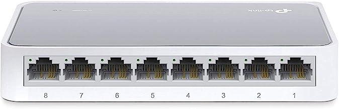 TP-Link TL-SF1008D 8-Port Fast Ethernet-/Netzwerk-/Lan Switch (10/100Mbit/s, automatische..