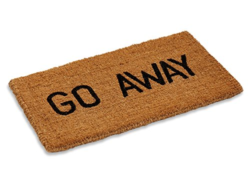 Kempf Go Away Doormat, 16 by 27 by 1-Inch, Funny Entrance Mat, Natural Coco Coir Fiber, No Rubber...
