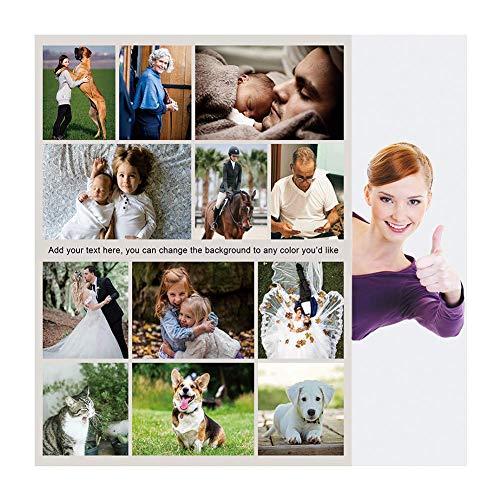 Haisimiery Manta de forro polar personalizada con imagen de cumpleaños regalo de boda para adultos bebé mascota 12 fotos NO.03 (tiro 120 x 150 cm)
