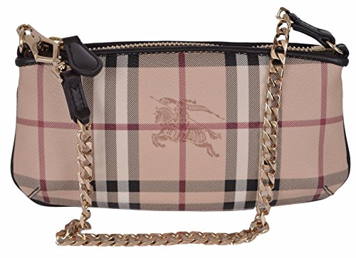 Burberry Women's Haymarket Nova Check Coated Canvas Convertible Wristlet