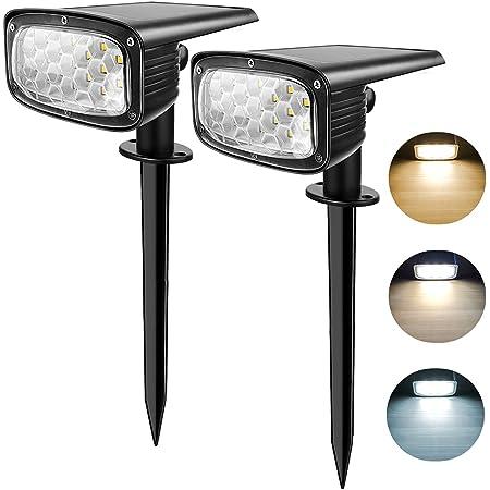 Spot Solaire Extérieur, LangRay 34 LEDs Lampe Solaire Extérieure Jardin Etanche, Projecteur Solaire 2-en-1 Installation 3 Modes pour Chemin Patio Allée , 2 PACK