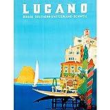 Wee Blue Coo Vintage Travel Switzerland Buzzi Lugano Suisse