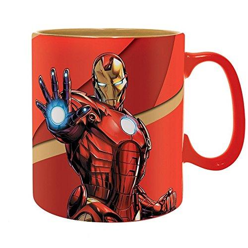 Iron Man Marvel Comics - Keramik Tasse Riesentasse 460 ml Geschenkbox