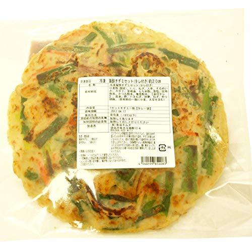 魚谷キムチ 海鮮チヂミセット (辛口タレ付き) 250g 1枚  6パック