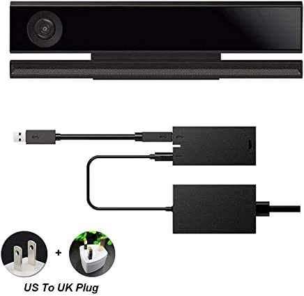 UxradG Adaptador de Corriente para Sensor Kinect 2.0 USB 3.0 para Xbox One S Xbox One X Windows PC Windows 8/8.1/10 App Programa de Desarrollo Interactivo, Show, us to UK Plug