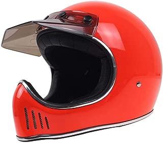 TEQIN Motorcycle Off-Road Racing Helmet Full Face Helmet Outdoor Racing Helmet Red XXL